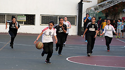July 29, 2017 - Gaza, Palestine - Palestinian girls participating in basketball training within the activities of a civil institution to empower girls in society  in Gaza city on July 29, 2017. (Credit Image: © Majdi Fathi/NurPhoto via ZUMA Press)