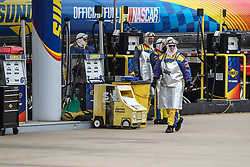 April 6, 2018 - Fort Worth, TX, U.S. - FORT WORTH, TX - APRIL 06: Sunoco Fuel staff stand at their station during practice for the O'Reilly Auto Parts 500 on April 6, 2018 at Texas Motor Speedway in Fort Worth, Texas.  (Photo by George Walker/Icon Sportswire) (Credit Image: © George Walker/Icon SMI via ZUMA Press)