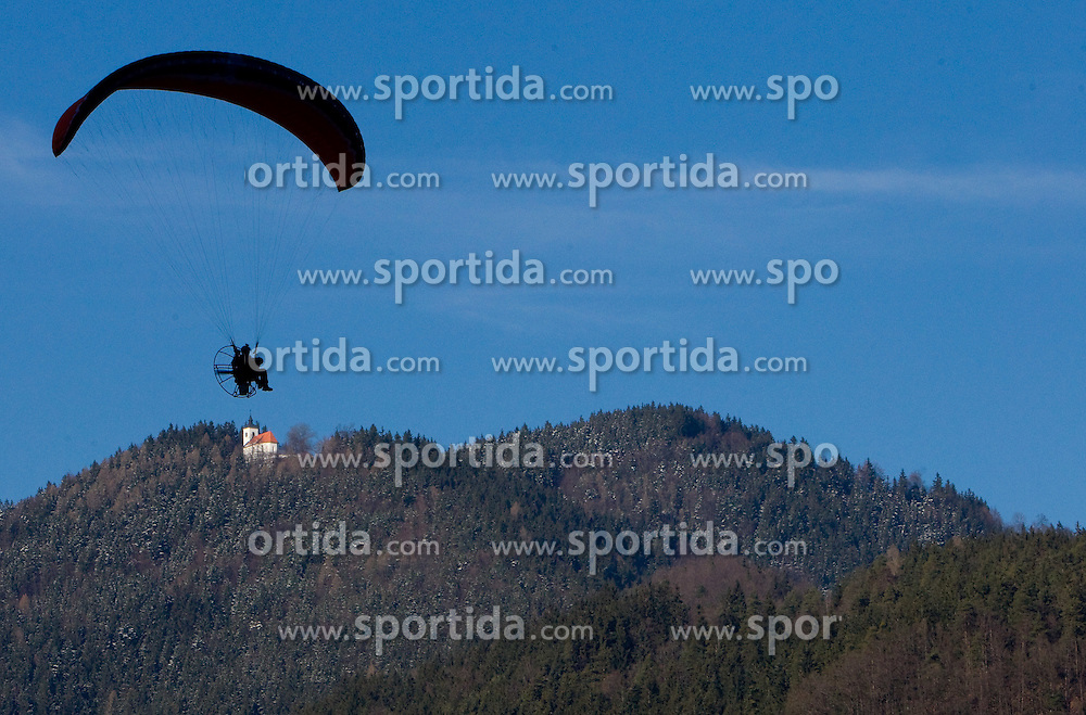 Parachute during FIS Continental Cup Ski Jumping Ladies in Ljubno, on January 23, 2011, at K-85 in Ljubno ob Savinji, Slovenia. (Photo By Vid Ponikvar / Sportida.com)