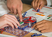 Engineering students work on a project at the Energy Institute High School, September 19, 2014.