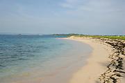 Distant islands and Beach, San Blas Islands, Caribbean Sea, Panama