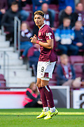 Sean Clare (#8) of Heart of Midlothian FC during the Ladbrokes Scottish Premiership match between Heart of Midlothian and Rangers FC at Tynecastle Park, Edinburgh, Scotland on 20 October 2019.