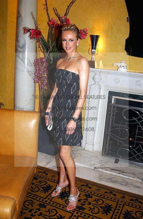 LADY ALEXANDRA SPENCER-CHURCHILL at a party to celebrate the launch of Michelle Watches held at the Blue Bar, The Berkeley Hotel, London on 7th October 2004.<br />