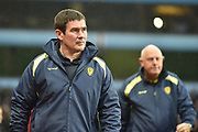 Burton Albion manager Nigel Clough and Burton Albion first team coach Andy Garner during the EFL Sky Bet Championship match between Aston Villa and Burton Albion at Villa Park, Birmingham, England on 3 February 2018. Picture by Richard Holmes.