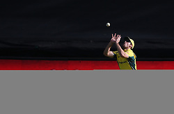 Mitchell Marsh of Australia gets under the ball to take the catch to get Rilee Rossouw of South Africa wicket during the 5th ODI match between South Africa and Australia held at Newlands Stadium in Cape Town, South Africa on the 12th October  2016<br /> <br /> Photo by: Shaun Roy/ RealTime Images