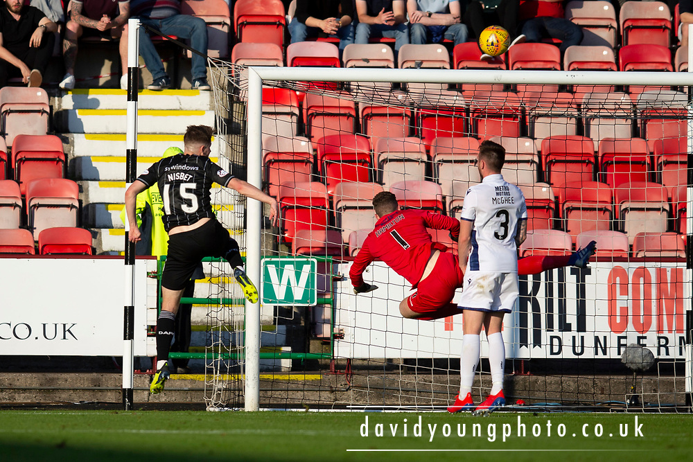 2nd Aug 2019, East End Park, Dunfermline, Fife, Scotland, Scottish Championship football, Dunfermline Athletic versus Dundee;  Kevin Nisbet of Dunfermline Athletic scores for 2-0