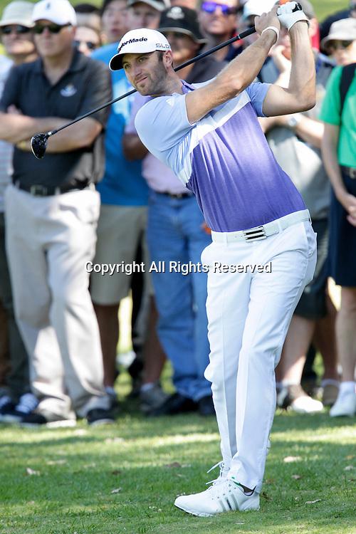 18.10.2013 Perth, Australia. Dustin Johnson (USA) during day 2 of the ISPS Handa Perth International Golf Championship from the Lake Karrinyup Country Club.