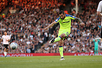 LONDON, ENGLAND - MAY 14:LONDON, ENGLAND - MAY 14:Bradley Johnson, of Derby County tries a shot on goal