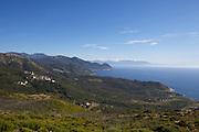 Camera (l.) and Port de Centuri (r.) seen from Col de la Serra.