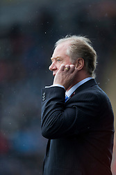 Cowdenbeath's manager Jimmy Nicholl.<br /> Half time : Falkirk 4 v 0 Cowdenbeath, Scottish Championship game played at The Falkirk Stadium, 25/10/2014.