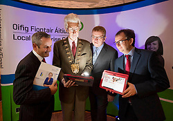 Repro Free:  Dublin: 05/10/2015<br /> Paul Reid, Chief Executive at Fingal County Council, Mayor of Fingal. Cllr. David O'Connor, Oisin Geoghegan, Head of Enterprise, Fingal County Council and Barry Tierney, Head of Enterprise Marketing, Vodafone are pictured at the &lsquo;Fingal Start-up Day&rsquo; witch kick started Fingal Enterprise Week where over 1,200 business owner/managers are expected to participate in 30+ seminars, workshops and networking events taking place throughout the region this week. An initiative of the Fingal Local Enterprise Office and supported by Vodafone and Bank of Ireland, Fingal Enterprise Week runs until the 9th of October. For a full listing of events visit www.fingalenterpriseweek.ie.  Picture Andres Poveda<br /> <br /> ENDS:<br /> For further information contact:<br /> Ann-Marie Sheehan, Aspire PR T : 087 298 5569 E : annmarie@aspire-pr.com