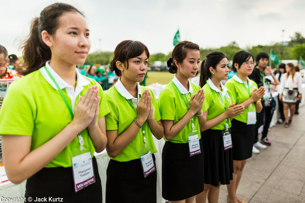 "23 APRIL 2013 - BANGKOK, THAILAND:   People pray during the opening ceremony to mark Bangkok as the World Book Capital City 2013. UNESCO awarded Bangkok the title. Bangkok is the 13th city to assume the title of ""World Book Capital"", taking over from Yerevan, Armenia. Bangkok Governor Suhumbhand Paribatra announced plans that the Bangkok Metropolitan Administration (BMA) intends to encourage reading among Thais. The BMA runs 37 public libraries in the city and has modernised 14 of them. It plans to build 10 more public libraries every year. Port Harcourt, Nigeria will be the next World Book Capital in 2014..PHOTO BY JACK KURTZ"