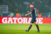 Marco verratti (psg) back to the changing room after he received a red card during the UEFA Champions League, round of 16, 2nd leg football match between Paris Saint-Germain FC and Real Madrid CF on March 6, 2018 at Parc des Princes stadium in Paris, France - Photo Pierre Charlier / ProSportsImages / DPPI