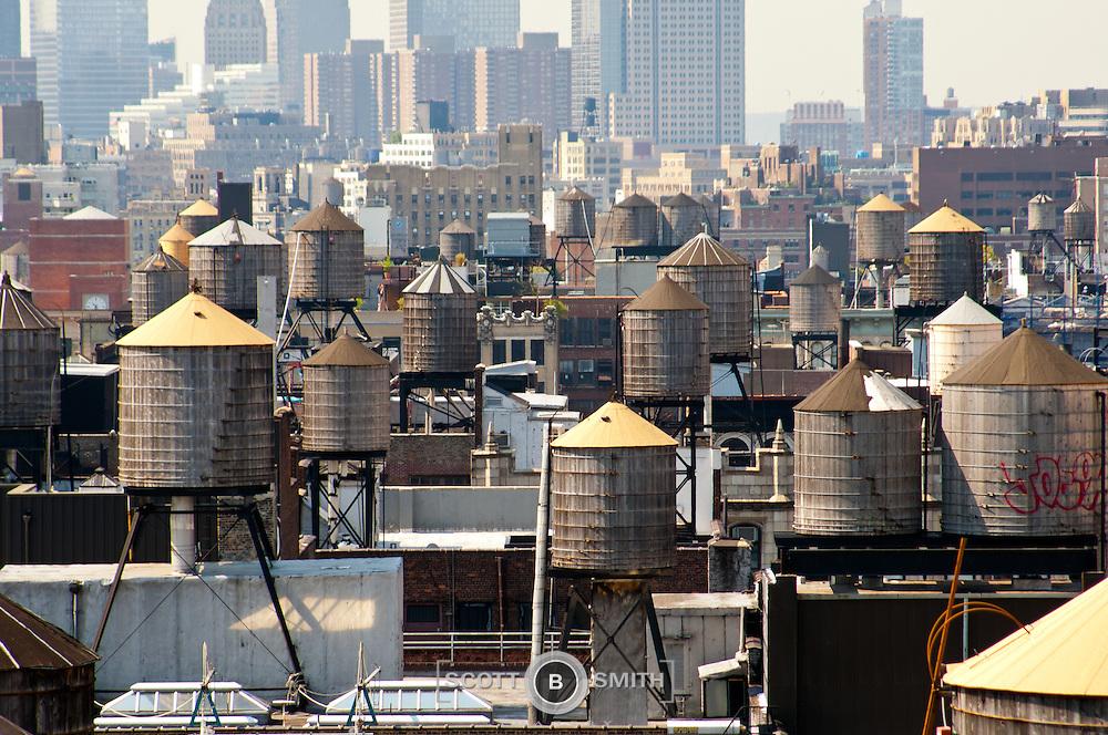 New York City Rooftop Water Storage Tanks Scott B Smith