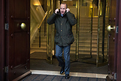 © Licensed to London News Pictures. 15/01/2018. London, UK. UKIP leader Henry Bolton leaves Four Millbank in Westminster. Amid calls for his resignation, Bolton has ended his relationship with girlfriend Jo Marney after it was reported she made racist remarks about Meghan Markle. Photo credit: Rob Pinney/LNP