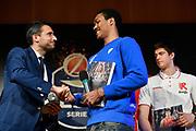 Tony Carr<br /> LBA AWORDS 2018/19<br /> Basket Serie A LBA 2018/2019<br /> Premiazioni Sala Buzzati - Rcs<br /> Milano 13 May 2019<br /> Foto Mattia Ozbot / Ciamillo-Castoria