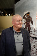 Garden City, New York, U.S. June 6, 2019. Apollo 13 astronaut FRED HAISE participates in  Cradle of Aviation Museum's Apollo Astronauts Press Conference during its day of events celebrating 50th Anniversary of Apollo 11.