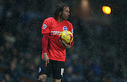 Brighton defender, full back, Inigo Calderon (14) during the Sky Bet Championship match between Blackburn Rovers and Brighton and Hove Albion at Ewood Park, Blackburn, England on 16 January 2016.