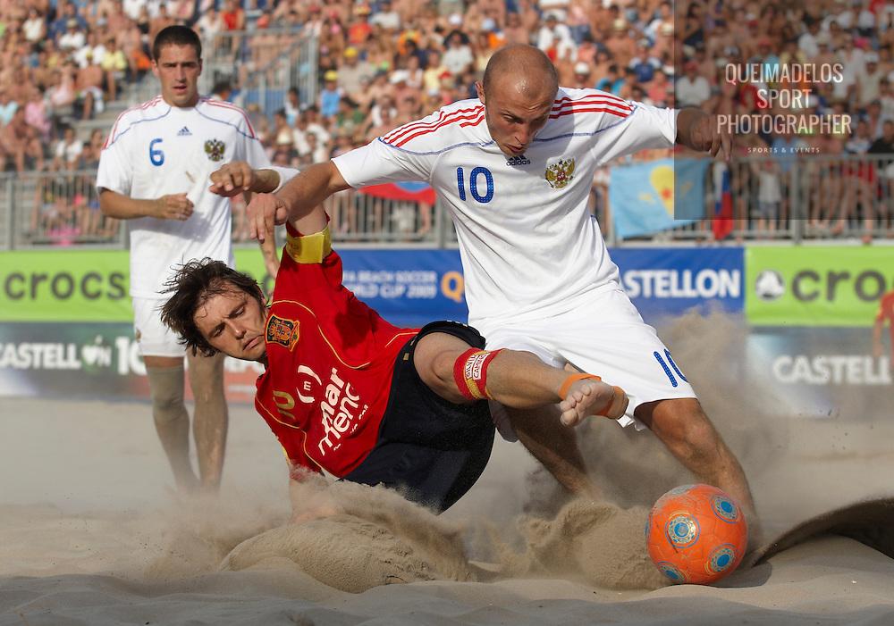 CASTELLON, SPAIN - JUNE 14:  Fifa Beach Soccer World Cup 2009 Qualifier Castellon at the Guru Beach on June 14, 2009 in Castellon, Spain. (Photo by Manuel Queimadelos)