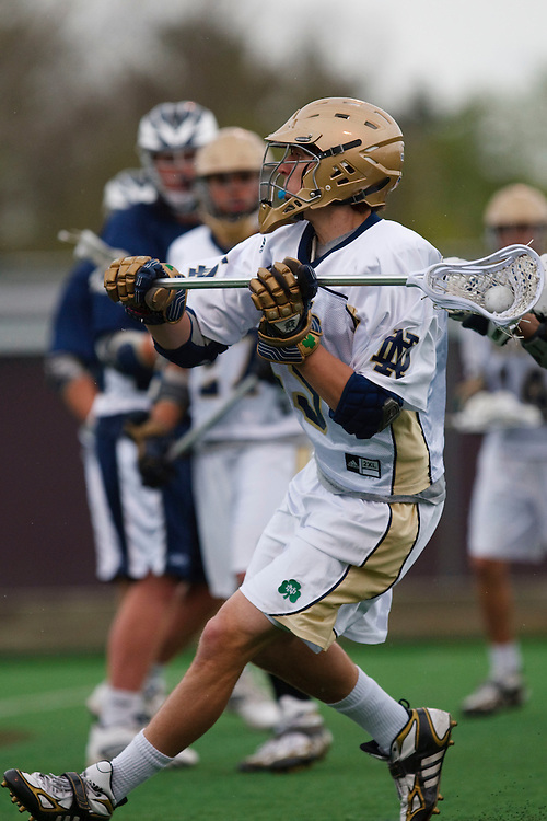 May 1, 2009: #45 Max Pfeifer of Notre Dame   in action during the NCAA Lacrosse game between Notre Dame and Quinnipiac at GWLL Tournament in Birmingham, Michigan. (Credit Image: Rick Osentoski/Cal Sport Media)