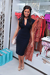 JESSICA WRIGHT (wearing Diva) from TV's Only Way is Essex at the opening of the new Melissa Odabash store in Walton Street, London SW3 on 7th July 2011.