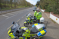 ©Licensed to London News Pictures 31/03/2020  <br /> Bexley, UK. Motorcycle Met police officers carrying out speed checks and covid19 checks near Bexley Village, Bexley, Greater London. The Prime Minister Boris Johnson has asked people to stay at home to help in the fight against Covid-19 and to only go out for essential reasons. credit:Grant Falvey/LNP