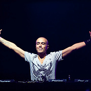 May 17, 2013 - Queens, NY :  Willem Rebergen, the Dutch DJ Headhunterz, performs during the first day of the 2013 New York 'Electric Daisy Carnival,' an electronic dance music festival, at Citi Field in Queens, on Friday. CREDIT: Karsten Moran for The New York Times CREDIT: Karsten Moran for The New York Times