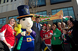 CARDIFF, WALES - Thursday, March 1, 2012: Members of the Football Association of Wales take part in the 10th St. David's Day Parade through the streets of Cardiff. Wales manager Chris Coleman. (Pic by David Rawcliffe/Propaganda)