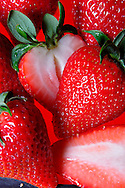 Strawberries<br /> Larger JPEG + TIFF images available by contacting use through our contact page at :..www.photography4business.com