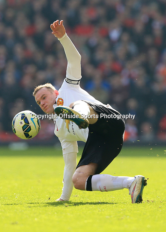 22nd March 2015 - Barclays Premier League - Liverpool v Manchester United - Wayne Rooney of Man Utd - Photo: Simon Stacpoole / Offside.