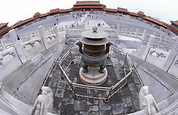 CHINA BEIJING APR99 -  A fisheye view shows the courtyard of the Imperial Palace also known as the 'Forbidden City'. jre/Photo by Jiri Rezac