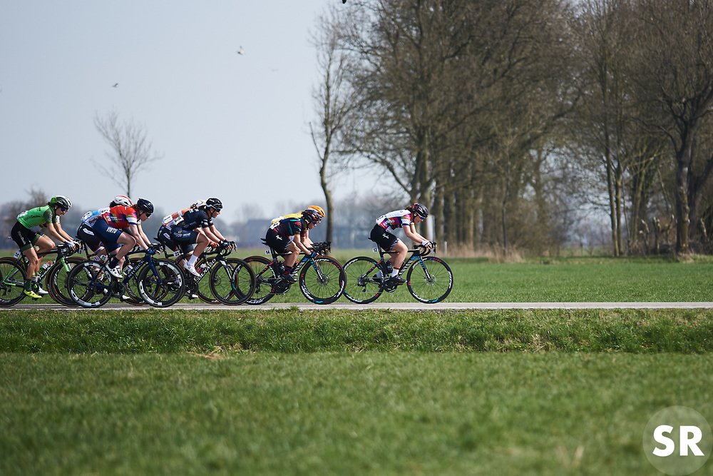 Lisa Klein (GER) leads the peloton in the early stages at Healthy Ageing Tour 2018 - Stage 4, a 143 km road race starting and finishing in Winsum on April 7, 2018. Photo by Sean Robinson/Velofocus.com