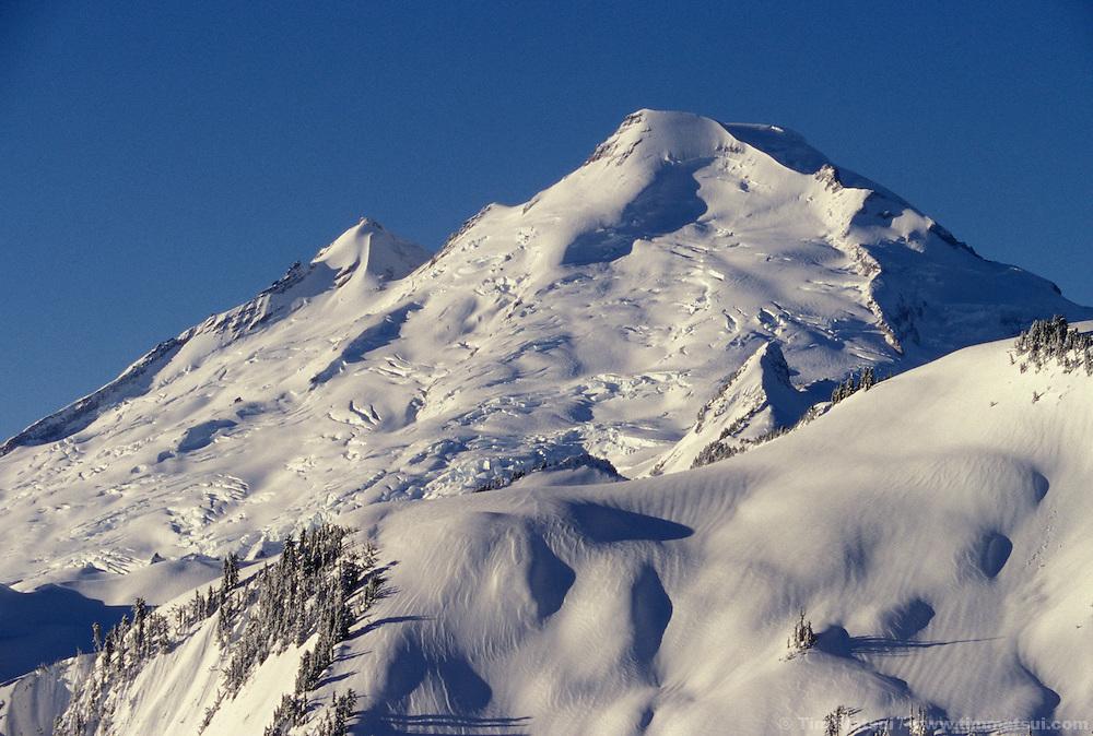 Climbing Mt. Baker, Washington.