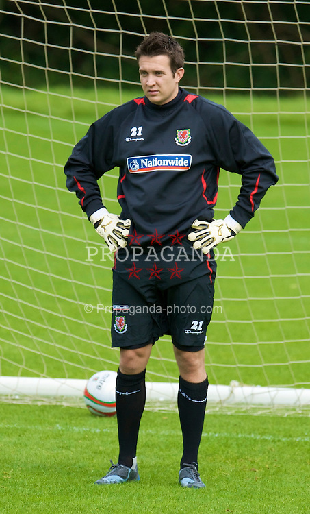 CARDIFF, WALES - Thursday, September 4, 2008: Wales' goalkeeper Lewis Price during a training session at the Vale of Glamorgan Hotel ahead of their opening 2010 FIFA World Cup South Africa Qualifying Group 4 match against Azerbaijan. (Photo by David Rawcliffe/Propaganda)