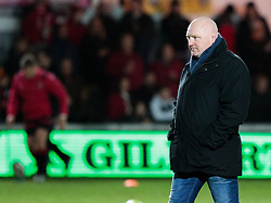 Dragons' Head Coach Bernard Jackman during the pre match warm up<br /> <br /> Photographer Simon King/Replay Images<br /> <br /> Guinness Pro14 Round 12 - Dragons v Cardiff Blues - Sunday 31st December 2017 - Rodney Parade - Newport<br /> <br /> World Copyright © 2017 Replay Images. All rights reserved. info@replayimages.co.uk - http://replayimages.co.uk