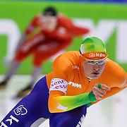 NLD/Heerenveen/20130111 - ISU Europees Kampioenschap Allround schaatsen 2013, 5000 meter heren, Sven Kramer - Hilvard Bokko