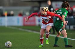 Poppy Pattinson of Bristol City competes with Annie Heatherson of Yeovil Town Ladies- Mandatory by-line: Nizaam Jones/JMP - 27/01/2019 - FOOTBALL - Stoke Gifford Stadium - Bristol, England - Bristol City Women v Yeovil Town Ladies- FA Women's Super League 1