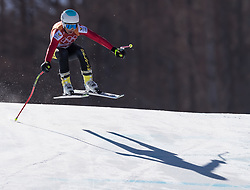 February 17, 2018 - PyeongChang, South Korea - KIM VANREUSEL of Belgium during Alpine Skiing: Ladies Super-G at Jeongseon Alpine Centre at the 2018 Pyeongchang Winter Olympic Games. (Credit Image: © Patrice Lapointe via ZUMA Wire)