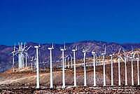 Mar 30, 2003; Palm Springs, CA, USA; Wintec Wind Farm provides pollution free, engery generating wind turbines for Palm Desert. This windmill farm generates enough electricity power to the entire city of Palm Springs. Surrounded by the San Jacinto mountains, the 3,100 windmills produce 600-900 megawatts of power during the average 300 windy days per year. One windmill can last up to 25 years and cost around $30,000 to maintain, this cost is recouped within the first five years. In 2001 the cost of windmill power was less than 5 cents a kilowatt hour. <br />Mandatory Credit: Photo by Shelly Castellano/ZUMA Press.<br />(©) Copyright 2003 by Shelly Castellano