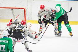 NejcStojan of HDD Jesenice during Ice Hockey match between HK SZ Olimpija Ljubljana and HDD Jesenice in Round #24 of Alps Hockey League, on December 22, 2018 in Hala Tivoli, Ljubljana, Slovenia. Photo by Ziga Zupan / Sportida