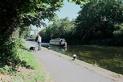 UK ENGLAND LEICESTER 30JUN15 - Canal boat on the river Soar at Leicester city.<br /> <br /> jre/Photo by Jiri Rezac / WWF UK<br /> <br /> &copy; Jiri Rezac 2015