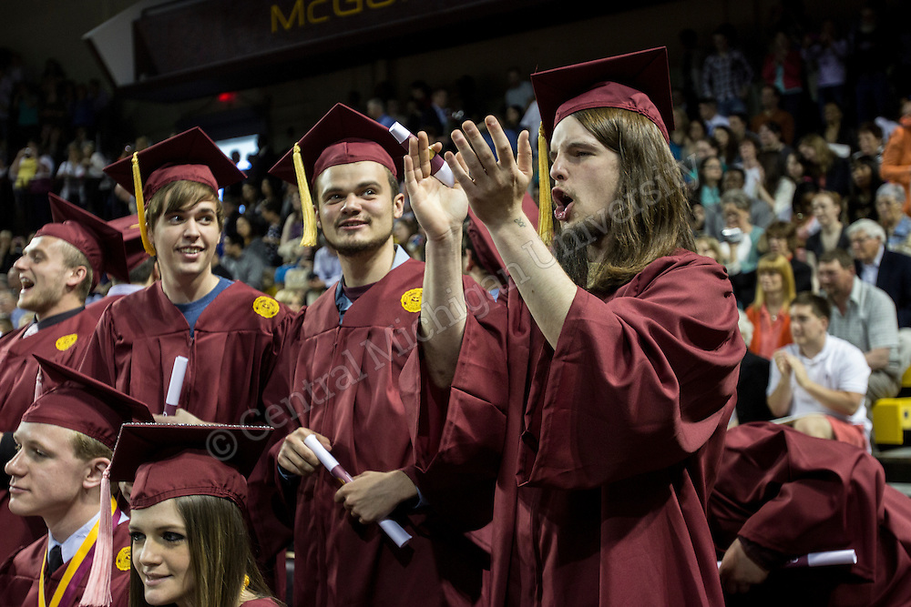 On Saturday, May 10 2014, CMU hosted three Graduate and Undergraduate commencement ceremonies in McGuirk arena.