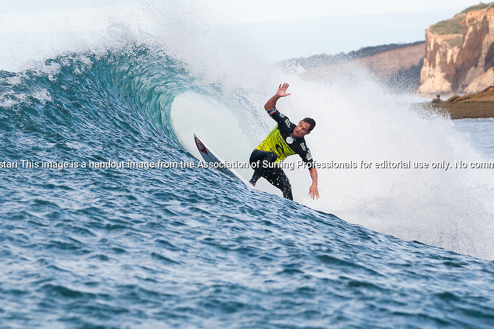 Travis Logie of Durban, South Africa (pictured), placed equal 25th in the Ripcurl Pro Bells Beach, being defeated by Filipe Toledo (BRA) in Round 2 at Bells Beach today.