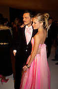 Sienna Miller and Matthew Williamson. The Moet & Chandon Fashion Tribute 2005 to Matthew Williamson,  Old Billingsgate market, London. 16th February 2005. ONE TIME USE ONLY - DO NOT ARCHIVE  © Copyright Photograph by Dafydd Jones 66 Stockwell Park Rd. London SW9 0DA Tel 020 7733 0108 www.dafjones.com