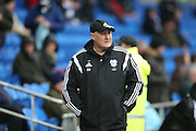 Cardiff City first team manager, Russell Slade during the Sky Bet Championship match between Cardiff City and Brighton and Hove Albion at the Cardiff City Stadium, Cardiff, Wales on 20 February 2016.