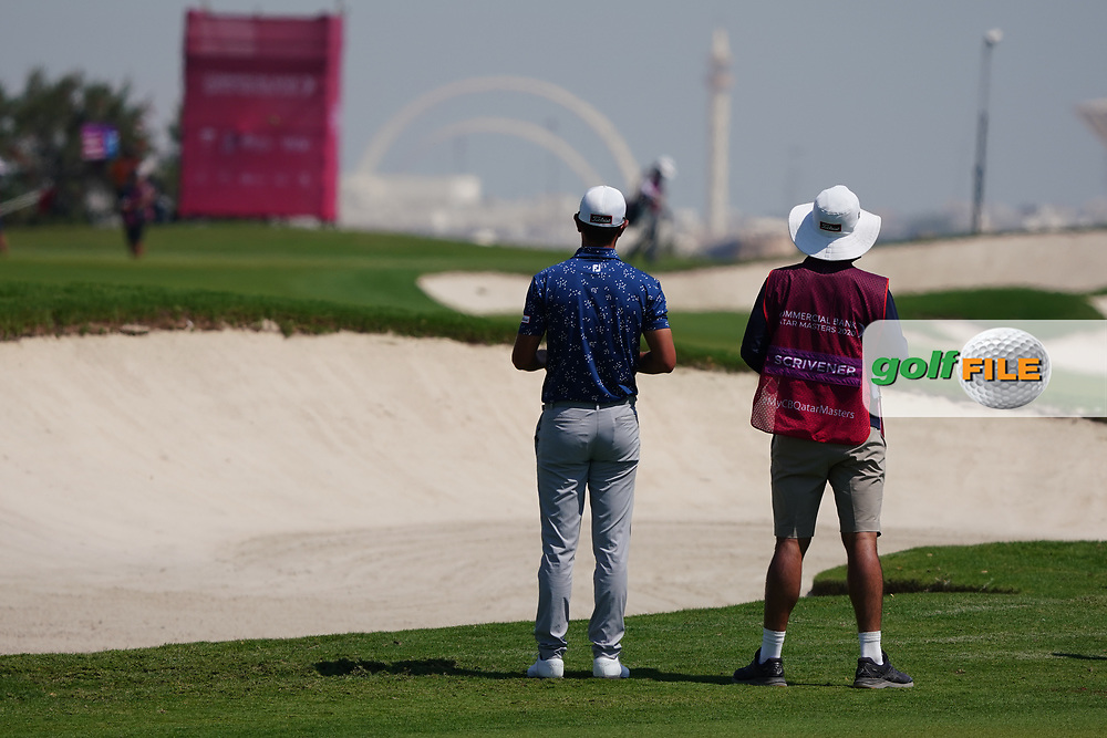 Jason Scrivener (AUS) on the 2nd during Round 2 of the Commercial Bank Qatar Masters 2020 at the Education City Golf Club, Doha, Qatar . 06/03/2020<br /> Picture: Golffile   Thos Caffrey<br /> <br /> <br /> All photo usage must carry mandatory copyright credit (© Golffile   Thos Caffrey)