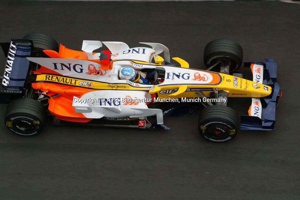 Monaco 25.05.2008 - Formula 1 Grand Prix of Monaco - FERNANDO ALONSO, Spain, Spanien - Team Renault - 2008 - Monte Carlo, Formel 1 -  F1 GP de Monaco Foto: © ATP Arthur THILL