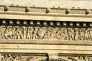 France. Paris. elevated view. Paris, the arc de triomphe and place de l'etoile