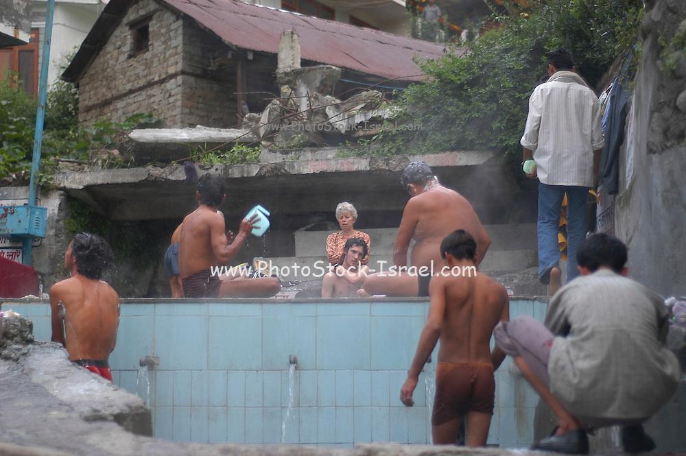 India, Vashisht near Manali, Kullu District, Himachal Pradesh, Northern India, public hot baths
