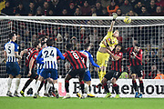 Aaron Ramsdale (12) of AFC Bournemouth in action during the Premier League match between Bournemouth and Brighton and Hove Albion at the Vitality Stadium, Bournemouth, England on 21 January 2020.